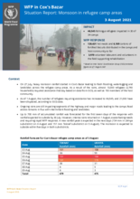 WFP Rapid Response - Situation Report on Monsoon in Refugee camps areas | 3 August 2021