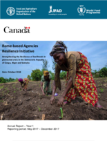 Rome-based Agencies Canada Resilience Initiative -      2017 Annual Report