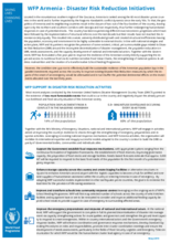 WFP Armenia - Disaster Risk Reduction Initiatives