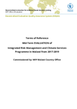 Malawi, Integrated Risk Management and Climate Services (2017-2019): an evaluation