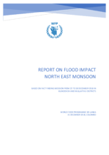 2018 - Sri Lanka - Report on Flood Impact - North East Monsoon