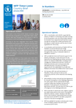 WFP Timor-Leste Country Brief - January 2020