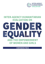 Review of Progress on Mainstreaming Gender Equality and the Empowerment of Women and Girls (GEEWG) into the Humanitarian, Development and Peace Nexus Agenda, May 2021