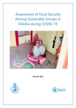 Assessment of Food Security Among Vulnerable Groups in Odisha during COVID-19
