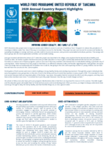World Food Programme United Republic of Tanzania 2020 Annual Country Report Highlights