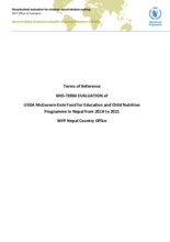 Nepal, Food for Education and Child Nutrition (2018-2021): Mid-term Evaluation