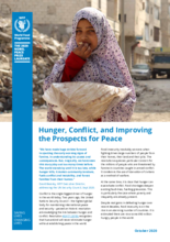 Hunger, Conflict, and Improving the Prospects for Peace fact sheet - 2020