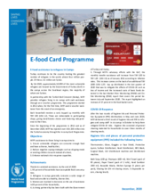 Q4 2020 – WFP Turkey E-Food Card Factsheet
