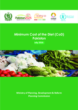 Minimum Cost of the Diet in Pakistan -  July 2016