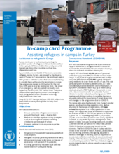 WFP Turkey E-Voucher Factsheet - Q2 2020
