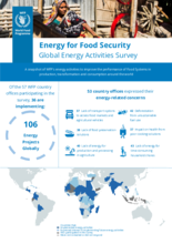 Energy for Food Security – Global Energy Activities Survey