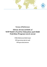 Haiti, Food for Education and Child Nutrition: an evaluation
