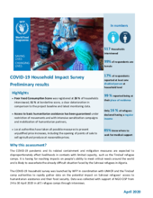 WFP Algeria - COVID-19 Household Impact Survey - Preliminary results