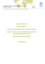 Palestine, Unconditional Resource Transfer Activity under the National Social Safety Net Programme: Evaluation