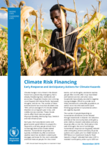 Climate Risk Financing: Early Response and Anticipatory Actions for Climate Hazards