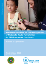 2017- National Guidelines on the Management of Moderate Acute Malnutrition for children under five years