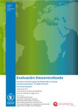 Bolivia, Country Programme 200381: an evaluation