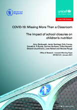 COVID-19: Missing More Than a Classroom - 2021