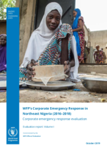 Evaluation of WFP's Corporate Emergency Response in Northeast Nigeria (2016-2018)