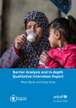 WFP Palestine - Barrier Analysis & In-Depth Qualitative Interviews Report - April 2020