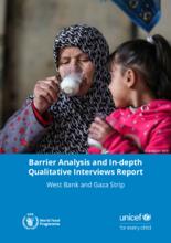 WFP Palestine - Barrier Analysis & In-Depth Qualitative Interviews Report - April 2020