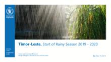 WFP-Timor-Leste - Rainy Season 2019-2020