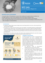 WFP India -  COVID-19 Situation Reports
