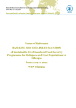 Ethiopia, Sustainable Livelihood and Food Security Programme for Refugees and Host Populations (2019-2022): Evaluation