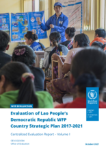 Evaluation of Lao People's Democratic Republic WFP Country Strategic Plan 2017-2020