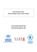 Algeria - Nutrition Survey 2019