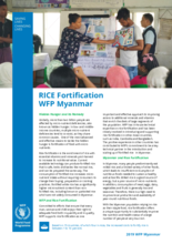 WFP Myanmar - Rice Fortification