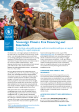 Sovereign Climate Risk Financing and Insurance - Protecting vulnerable people and communities with pre-arranged funding for rapid responses  -2021