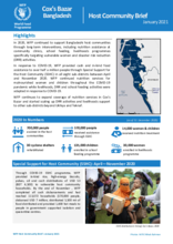 WFP Bangladesh - Cox's Bazar Host Community Brief