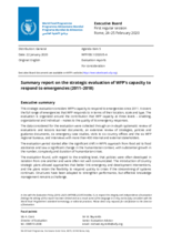 Evaluation of the WFP's Capacity to Respond to Emergencies
