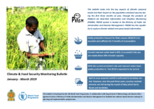 Sri Lanka - Climate and Food Security Monitoring Bulletin