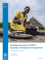 Evaluation of WFP's Capacity to Respond to Emergencies