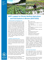 WFP's support to Climate Resilient Agriculture and Food Systems in Bhutan (2019-2023)