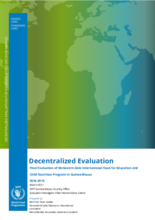 Guinea-Bissau, Food for Education and Child Nutrition: mid-term and final evaluations