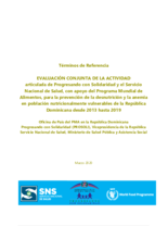 Dominican Republic, malnutrition prevention: an evaluation