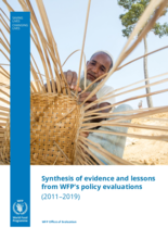 Synthesis of Evidence and Lessons from WFP's Policy Evaluations (2011-2019)