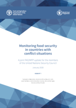 Monitoring food security in countries with conflict situations
