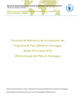Nicaragua Country Programme 200434: an evaluation
