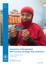 Evaluation of Bangladesh WFP Country Strategic Plan Evaluation 2016-2019
