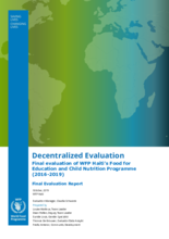 Haiti, Food for Education and Child Nutrition (2016-2019): An Evaluation