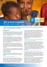 2017 - WFP and Social Protection -  Somalia Case Study