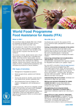 WFP Food Assistance for Assets (FFA) - 2020