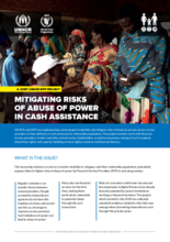 Mitigating Risks of Abuse of Power in Cash Asssistance (MRAP): A joint Unicef-WFP project