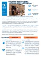 World Food Programme Zambia  2020 Annual Country Report Highlights