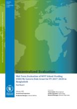 Bangladesh, School Feeding Programme (2017-2020): Mid-term Evaluation