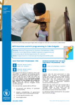 WFP Mozambique Nutrition and HIV Provincial Briefs – October 2020